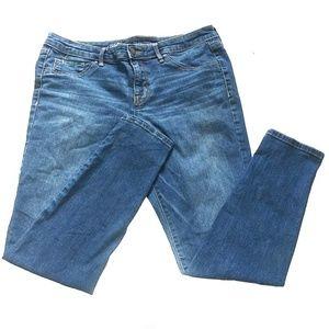 Mossimo Mid Rise Dark Blue Denim Jegging Jeans
